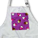 click on Cute Cupcake Print Pink and Chocolate on Purple to enlarge!