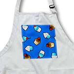 click on Cute Cupcake Print Blue and Chocolate on Blue to enlarge!