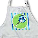 click on Cute Lollipop - Kawaii Candy - Blue Swirl on Green and Blue Stripe to enlarge!