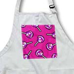 click on Cute Lollipops Print - Pink and Purple Swirl on Pink to enlarge!