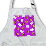 click on Cute Cartoon Milk and Chocolate Chip Cookies on Purple  to enlarge!