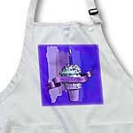 click on Happy Birthday, Strawberry Ice Cream Cone on Abstract, Purple to enlarge!