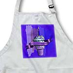 click on Happy 113th Birthday, Strawberry Ice Cream Cone on Abstract, Purple to enlarge!