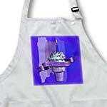 click on Happy 107th Birthday, Strawberry Ice Cream Cone on Abstract, Purple to enlarge!