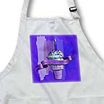click on Happy 102nd Birthday, Strawberry Ice Cream Cone on Abstract, Purple to enlarge!
