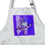 click on Happy 101st Birthday, Strawberry Ice Cream Cone on Abstract, Purple to enlarge!