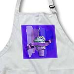 click on Happy 94th Birthday, Strawberry Ice Cream Cone on Abstract, Purple to enlarge!