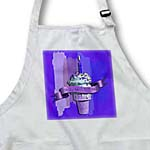 click on Happy 92nd Birthday, Strawberry Ice Cream Cone on Abstract, Purple to enlarge!