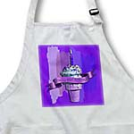 click on Happy 89th Birthday, Strawberry Ice Cream Cone on Abstract, Purple to enlarge!