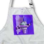 click on Happy 81st Birthday, Strawberry Ice Cream Cone on Abstract, Purple to enlarge!