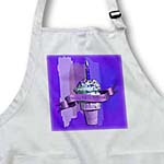 click on Happy 62nd Birthday, Strawberry Ice Cream Cone on Abstract, Purple to enlarge!