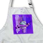 click on Happy 58th Birthday, Strawberry Ice Cream Cone on Abstract, Purple to enlarge!