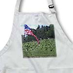 click on Waving Flag in Grass- Patriotic Art- USA to enlarge!