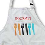 click on Dotted Gourmet Silverware- Cooking Art- Food to enlarge!