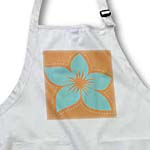 click on Turquoise Hawaiian Flowers On A Brown Background to enlarge!