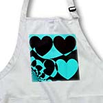 click on Blue and Black Hearts Abstract- Lovable Art to enlarge!
