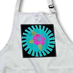 click on Bright Pink Hawaiian Flower On A Turquoise and Black Background to enlarge!