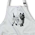 click on Black n White Cartoon Cairn Terrier to enlarge!
