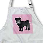 click on Cute Chinese Shar Pei Black Coat - Pink Paw Prints to enlarge!
