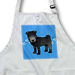 click on Cute Chinese Shar Pei Black Coat - Blue Paw Prints to enlarge!