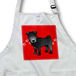 click on Cute Chinese Shar Pei Black Coat - Red Paw Prints to enlarge!