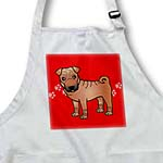 click on Cute Chinese Shar Pei Red Coat with Mask - Red Paw Prints to enlarge!