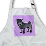 click on Cute Chinese Shar Pei Blue Coat - Purple Paw Prints to enlarge!