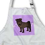click on Cute Chinese Shar Pei Brown Coat - Purple Paw Prints to enlarge!
