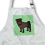 click on Cute Chinese Shar Pei Brown Coat - Green Paw Prints to enlarge!