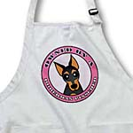 click on Owned By a Doberman Pinscher Black and Tan Coat - Pink to enlarge!
