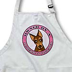 click on Owned By a Doberman Pinscher Red and Tan Coat - Pink to enlarge!