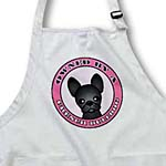 click on Owned By a French Bulldog Black Coat - Pink to enlarge!