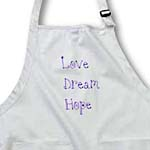click on Love, Dream, Hope Purple Words- Flowers Letters to enlarge!
