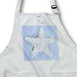click on Ocean Star- Pastel Blue and White Starfish- Beach Themed Art to enlarge!