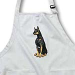 click on Doberman Pinscher Dog Sitting to enlarge!