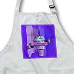 click on Happy 21st Birthday, Ice Cream Cone on Abstract, Purple to enlarge!