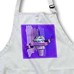 click on Happy 1st Birthday, Ice Cream Cone on Abstract, Purple to enlarge!