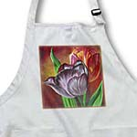 click on Two Tulips - floral, realism, still life, tulip, tulips, anniversary flower, wedding anniversary to enlarge!