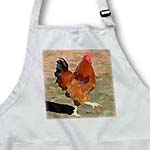 click on Big Red - Rooster - Farm Animal Art to enlarge!