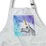 click on White Unicorn brilliant horn and pastel background art in high definition to enlarge!