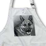 click on German Shepherd Dog Black and White Tinted Photograph to enlarge!
