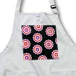 click on Retro 60s Pink White Flower Power Medallions on Black to enlarge!