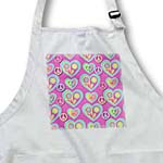 click on Retro 60s Faded Pastel Peace Signs Flower Hearts on Pink to enlarge!
