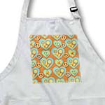 click on Retro 60s Faded Pastel Peace Signs Flower Hearts on Orange to enlarge!