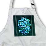 click on Assorted bouquet of turquoise, blue and green flowers with teal textured background to enlarge!