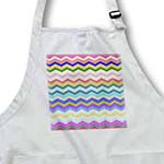 click on Muted Rainbow Multicolor Chevron Colorful Zig Zag Striped Pattern to enlarge!