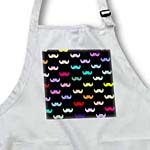click on Colorful Rainbow Mustache Pattern on Black aka multicolored multicolor ironic hipster mustaches to enlarge!