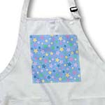 click on Purple Teal Pink Blue and Yellow Cute Stars Pattern on Blue - Sweet Girly and Colorful to enlarge!