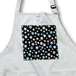 click on Cute Stars Pattern on Black - Sweet Girly and Colorful - Purple Teal Pink Blue and Yellow Stars to enlarge!