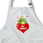 click on The Charming Frog Valentine on White Background to enlarge!